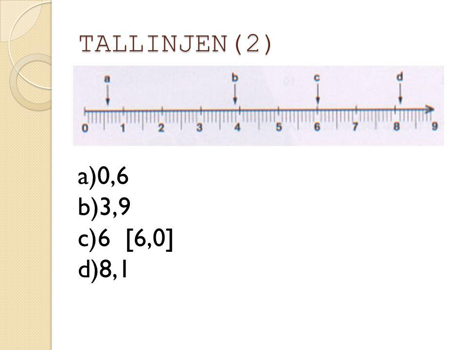 TALLINJEN(2) 0,6 3,9 6 [6,0] 8,1